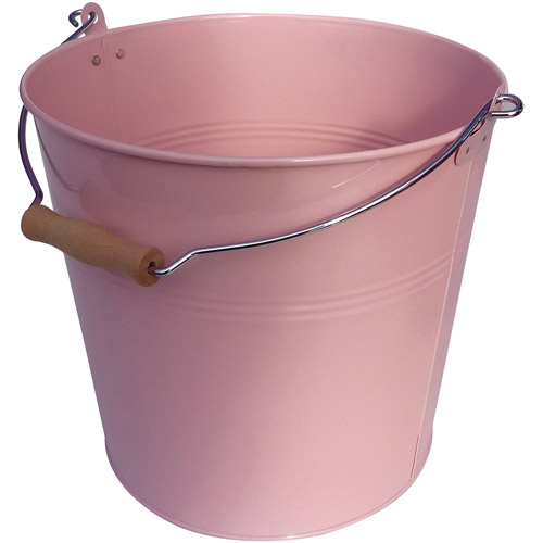 Neu Home Round Metal Bucket, Pink