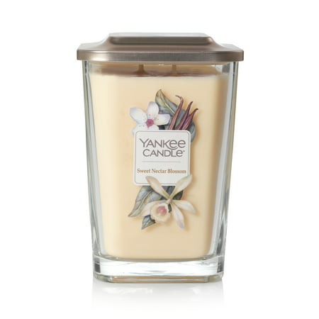 Yankee Candle Sweet Nectar Blossom Elevation Collection with Platform Lid - Large 2-Wick Square -