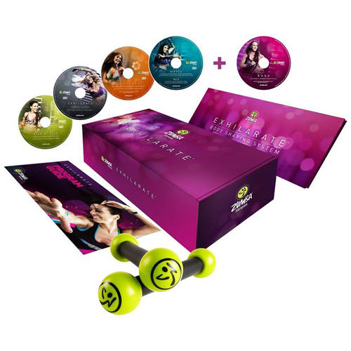 Zumba Exhilarate Body Shaping System, 5 DVDs