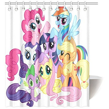 DEYOU My Little Pony Shower Curtain Polyester Fabric Bathroom Size 66x72 Inch