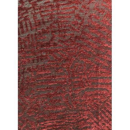 Plutus PBRA1405-2036-DP Crushed Wine Luxury Throw Pillow in Dark Red, 20 x 36 in. King - image 1 of 3
