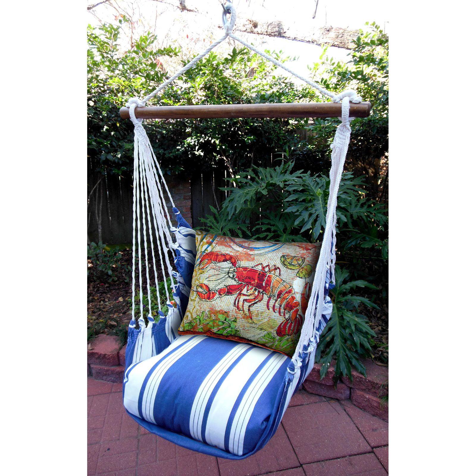 Magnolia Casual Maine Hammock Chair ; Pillow Set