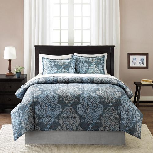 Mainstays Damask Printed Bedding Comforter Mini Set