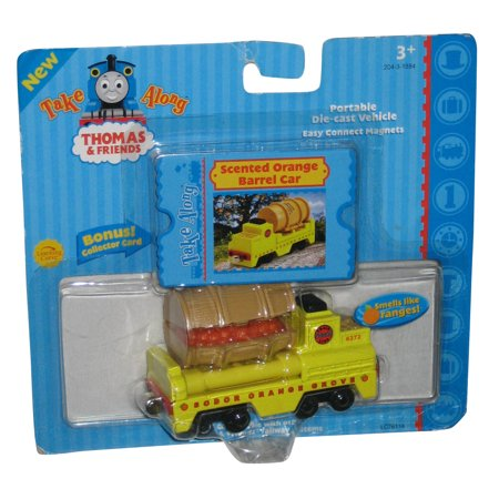 Thomas & Friends Learning Curve Scented Orange Barrel Car Die-Cast Toy Train