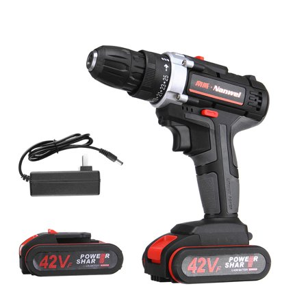 42V 7500MAH Heavy Duty Electric Impact Wrench Gun Cordless Drill Tool + 1 Torque LED Light with 1 or 2