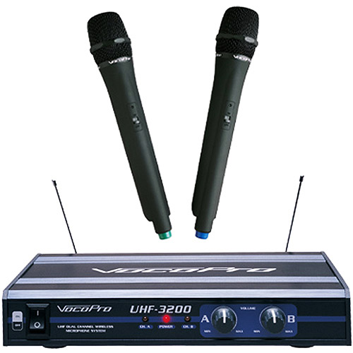 VocoPro UHF-3200 Dual Channel UHF Wireless Microphone System