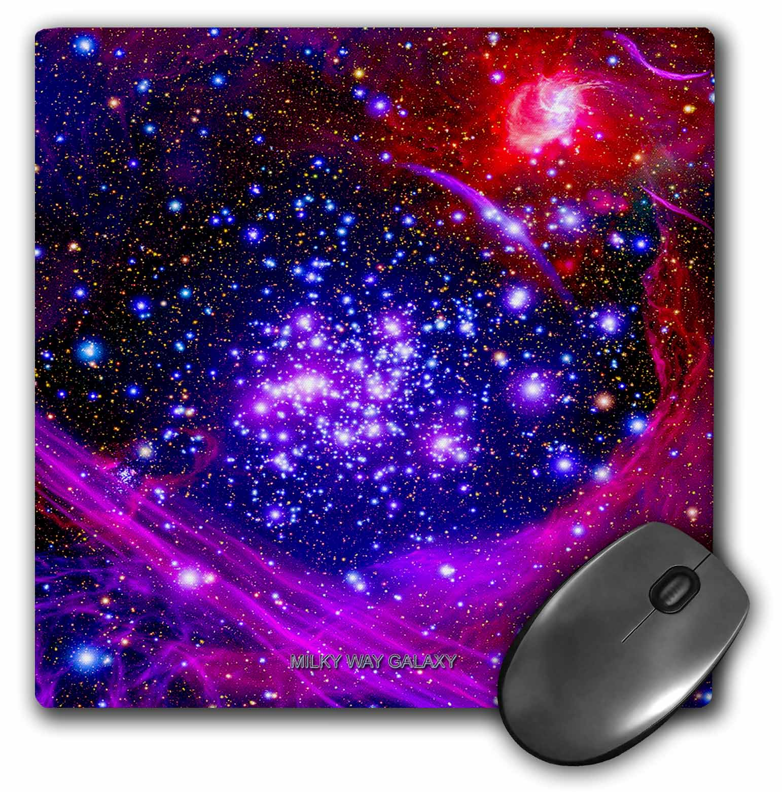 3dRose Galaxy and Nebula - Milky Way Galaxy, Mouse Pad, 8 by 8 inches