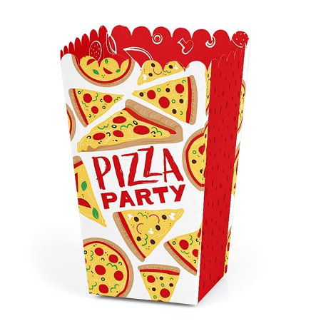 Pizza Party Time - Baby Shower or Birthday Party Favor Popcorn Treat Boxes - Set of - Halloween Pizza Party Ideas
