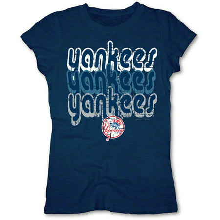 MLB - New York Yankees Navy Girls Crewneck T-Shirt