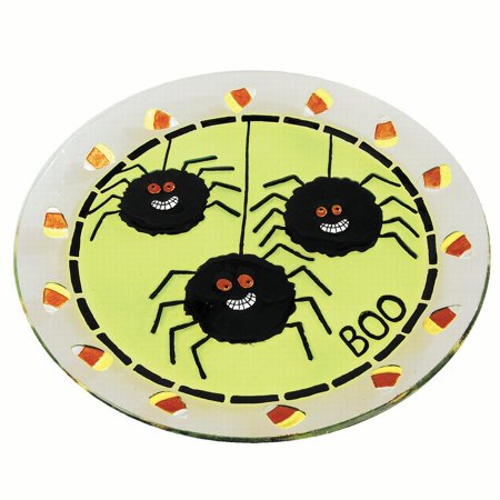 Fused Glass Platters - Spider Fused Glass Platter