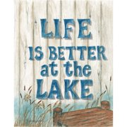 LPG Greetings Life Is Better at the Lake Textual Art