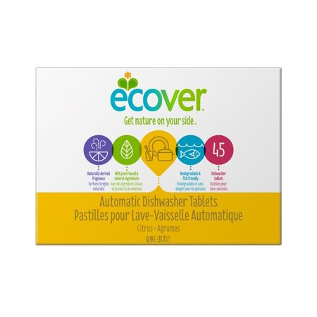 Ecover Automatic Dishwasher Tablets, Citrus, 45 Ct