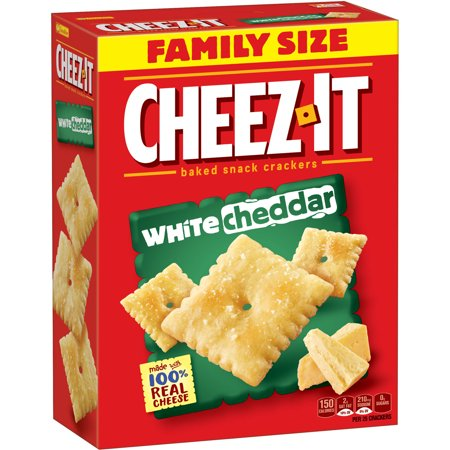 Cheez It White Cheddar Baked Snack Crackers  21 Oz