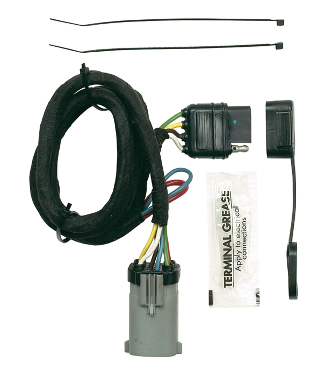 curt custom vehicle to trailer wiring harness extension