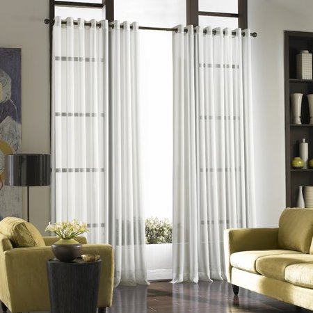 Curtainworks Soho Voile Solid Sheer Grommet Single Curtain Panel (Soho Panel)