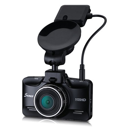 Seneo 2.7K HD 1296P Dash Cam with Ambarella A7LA70 Chipset 170 degree wide Angle 6G Lens, GPS Track Replay, HDR, Night Vision, Motion Detection, ADAS, LDWS, FCWS Function -  0063242325663