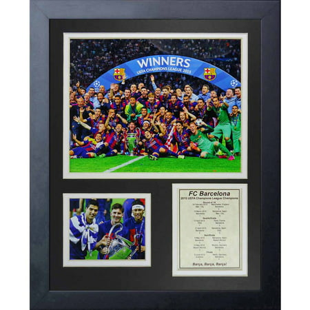 Legends Never Die Fc Barcelona 2015 Uefa Champions League Winners Collage Photo Frame  11   X 14