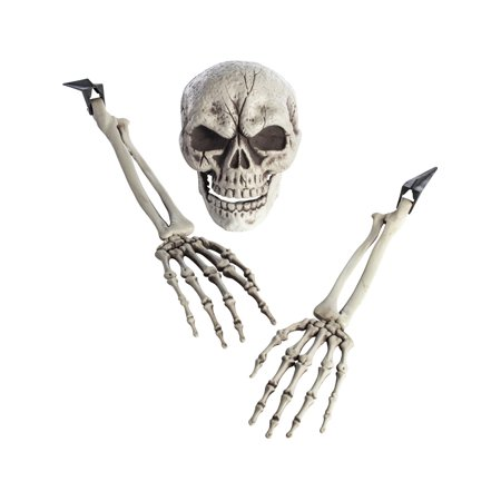 Ground Breaker 3 Skeleton Bones Prop Skull Remains Halloween Decoration - Halloween Led Skull Candelabra Prop