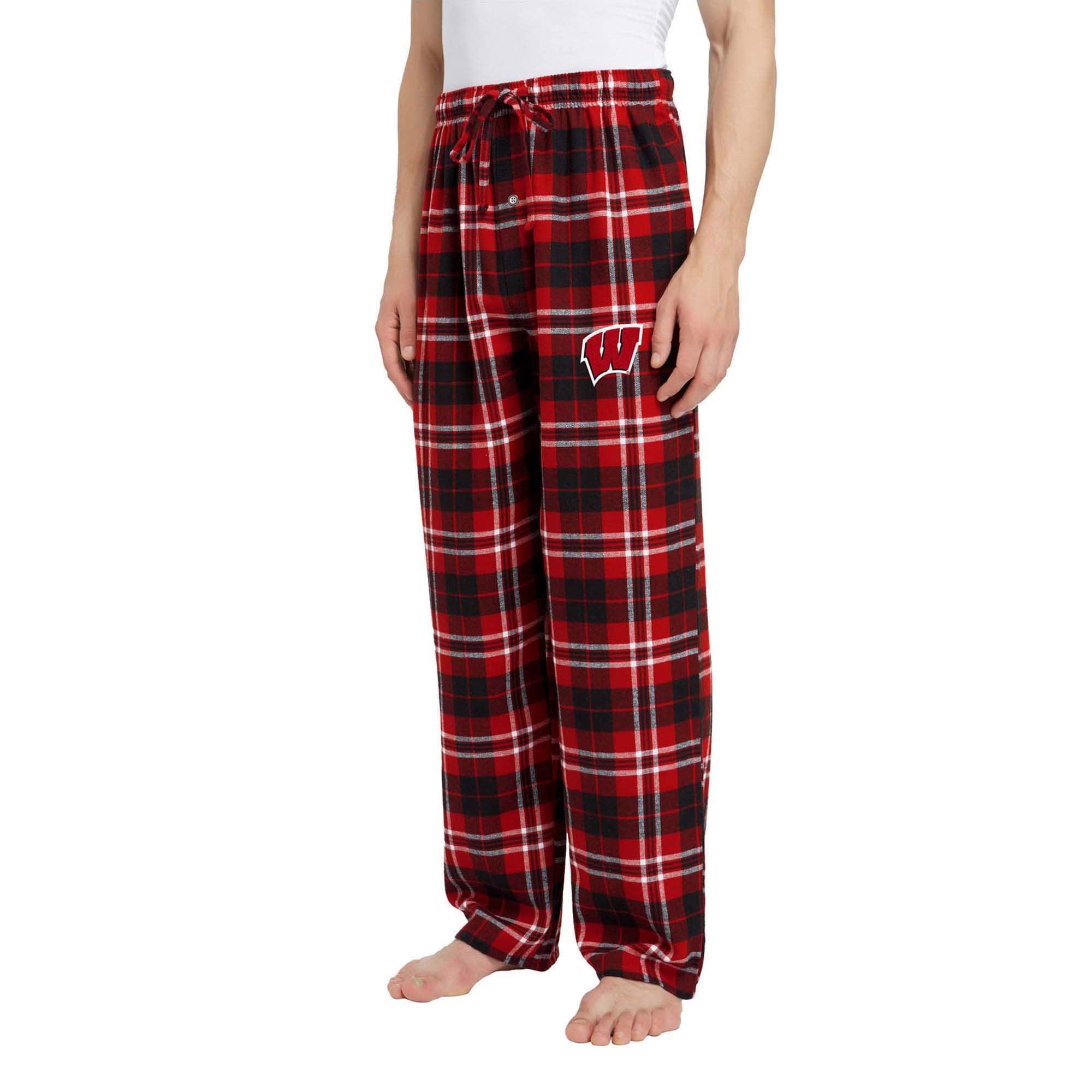 Red, Genuine Stuff Wisconsin Badgers Youth School Logo Pajama Pants