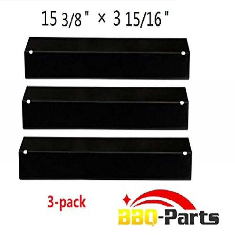 Hongso PPB311 (3-pack) BBQ Gas Grill Porcelain Steel Heat Plate, Heat Shield, Heat Tent, Burner Cover, Vaporizor Bar, and Flavorizer Bar for Grill King, Aussie, Charmglow, Brinkmann, Uniflame, Lowes