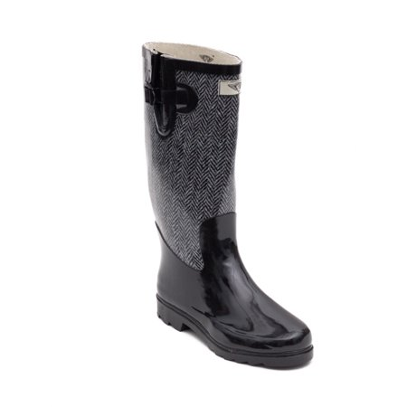Intuition Ski Boot Liners (Women Rubber Rain Boots with Cotton Lining, Chevron Jacket )