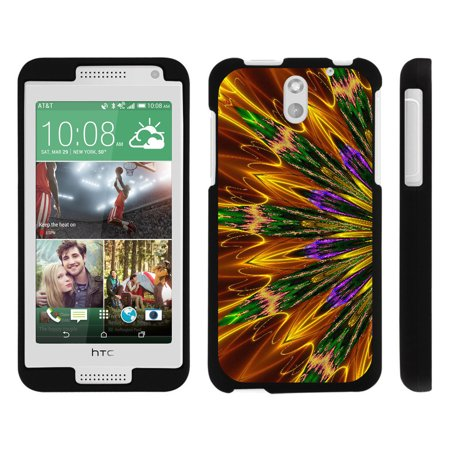 HTC Desire 610, [SNAP SHELL][Matte Black] 2 Piece Snap On Rubberized Hard Plastic Cell Phone Cover with Cool Designs - Kaleidoscopic Phoenix (Htc 610 Phone Screen)