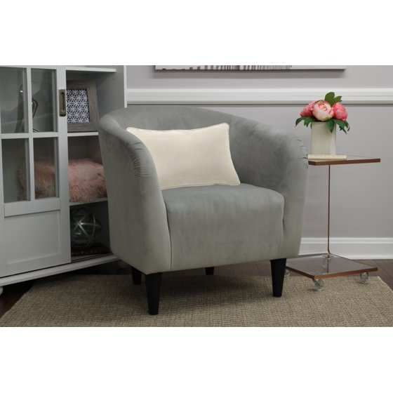 Mainstays microfiber tub accent chair for Microfiber accent chairs living room