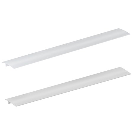 TSV Kitchen Silicone Stove Counter Gap Cover, Easy Clean Wide & Long Gap Filler, Seals Spills Between Counter, Stovetop, Oven, Washer & Dryer, Set of 2 (21 Inches, Black/Clear/White)