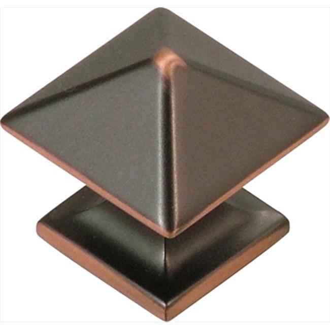 Hickory Hardware P3014-OBH 1 inch Square Studio Collection Oil-Rubbed Bronze Cabinet Knob