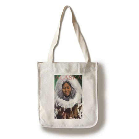 Eskimo Woman - Alaska (100% Cotton Tote Bag - Reusable) - Pretty Eskimo Women