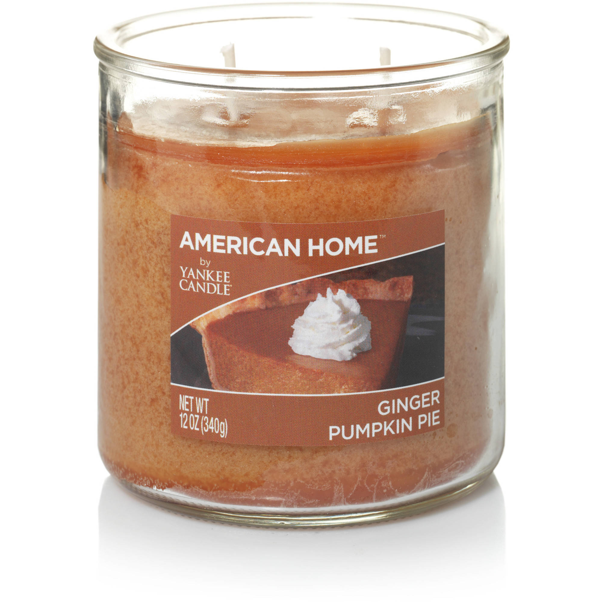 American Home by Yankee Candle Ginger Pumpkin Pie, 12 oz Medium 2-Wick Tumbler