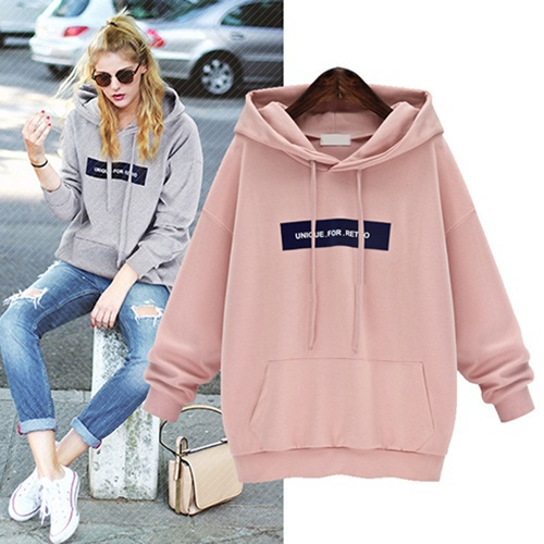 Women Casual Sport Fleece Hoodies Long Sleeve Hooded Pullover Jogging Sportswear