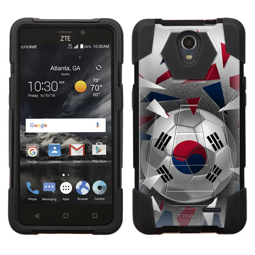 ZTE Maven 2 Hybrid Stand Case Soccer Ball Korea Flag by Trek Media Group