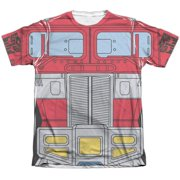Trevco Sportswear HBRO131-ATPC-1 Transformers & Optimus Prime Costume - Adult Poly & Cotton Short Sleeve Tee, White - Small