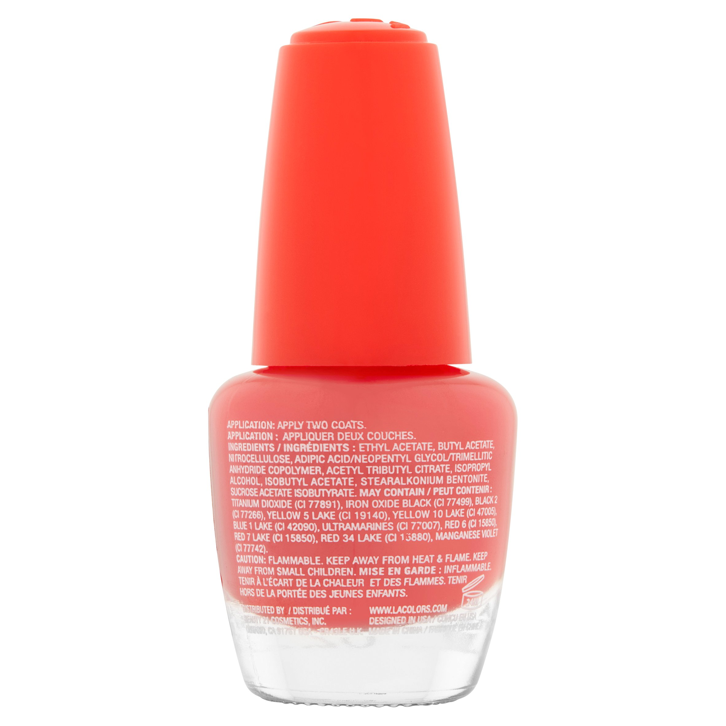 LA Colors Gel Shine Nail Polish, Fierce, 0.44 Oz - Walmart.com