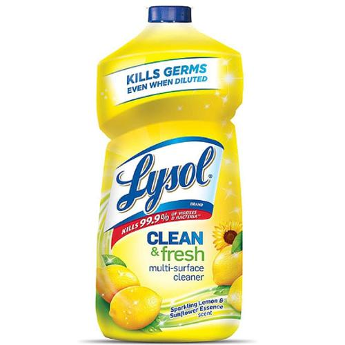 LYSOL Clean & Fresh Multi-Surface Cleaner, Sparkling Lemon and Sunflower Essence Scent 40 oz (Pack of 2)