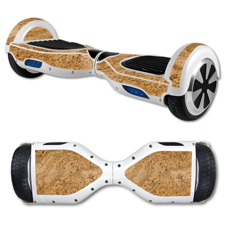 MightySkins Protective Vinyl Skin Decal for Hover Board Self Balancing Scooter mini 2 wheel x1 razor wrap cover Cork
