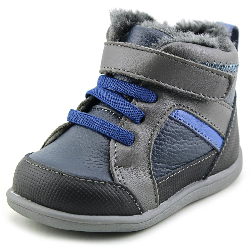 See Kai Run DOUG-NVY Infant  Round Toe Leather  Boot