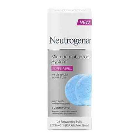 - Neutrogena Microdermabrasion System Exfoliating Puff Refills, 24 Ea