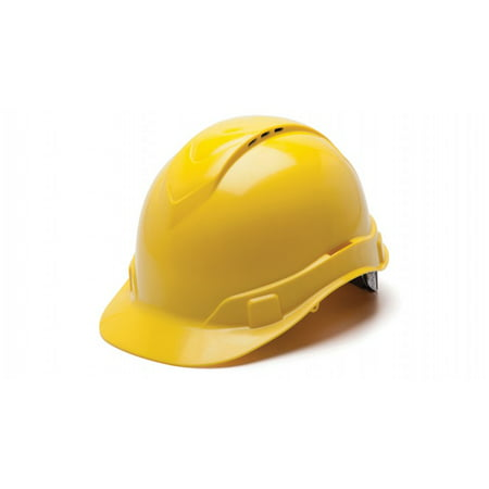 Ridgeline Vented Cap Style 4 Pt Ratchet Suspension Hard Hat, Yellow