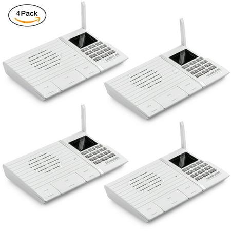 Wireless Intercom,Samcom 20-Channel Digital 2 Way Intercom System for Home and Office(White. Pack of (M S Intercom System)