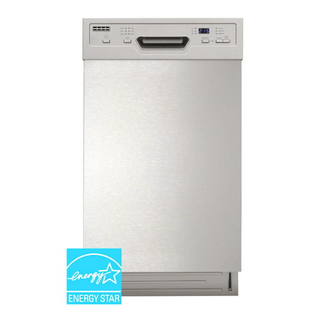 "Sunpentown 18"" Built-In Dishwasher with Heated Drying, Energy Star, White, SD-9254W"
