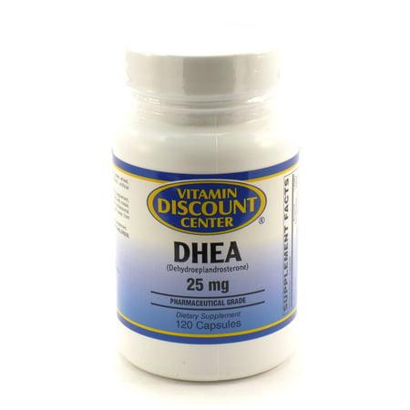 25mg de DHEA par Vitamin Discount Center - 120 Capsules