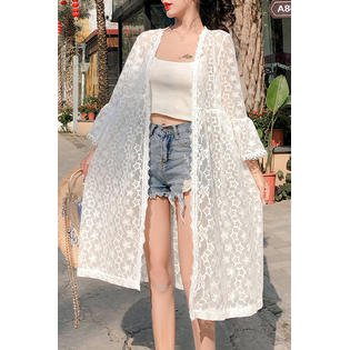 Junior Loose Trim Lace Summer Beach Coverup