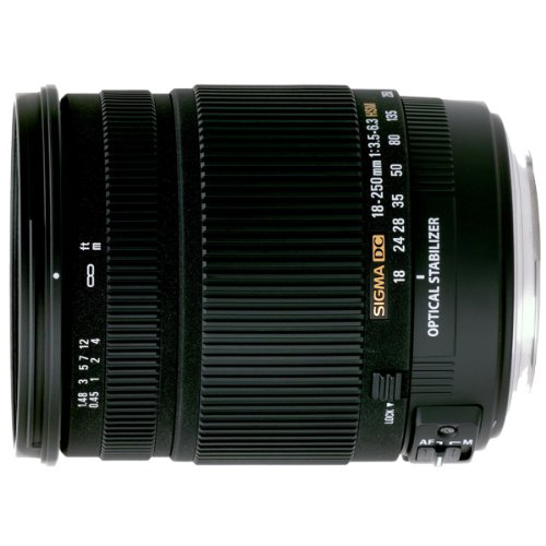 Sigma 18-250mm F3.5-6.3 DC OS HSM Lens for Canon EOS Macro with Optical Stabilizer