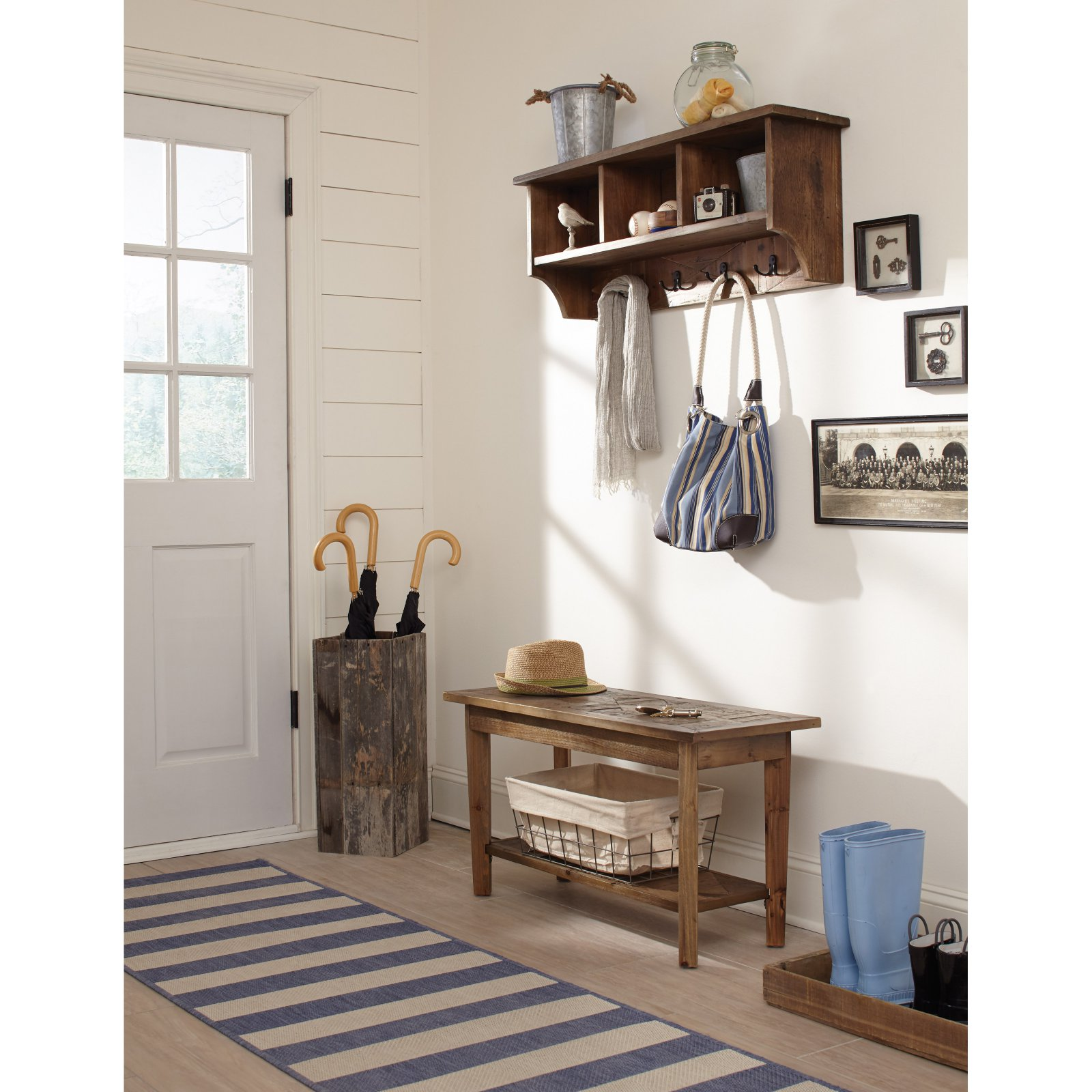 Alaterre Revive Storage Coat Hook with Bench Set