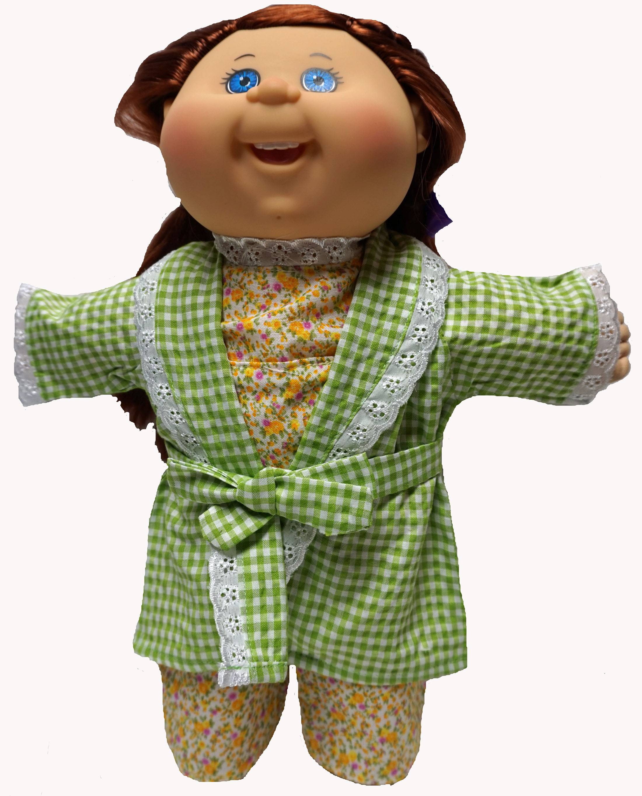 Pajamas And Bathrobe Fits 14 And 16 Inch Cabbage Patch Kid Dolls by Doll Clothes Superstore