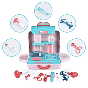 Doctor Kit for Kids: 20 Pcs Pretend Play Kids Doctor Kit Toys with Electronic Stethoscope & Doctor Health Bag   Kids Medical Play Set for Toddler Boys Girls Doctor 3 6 8 Years Old Games Role Play