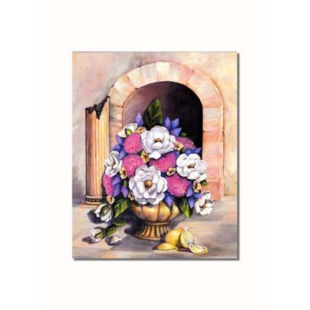Flowers in Textured Vase Roman Column Archway #2 Wall Picture 8x10 Art Print](Roman Colums)