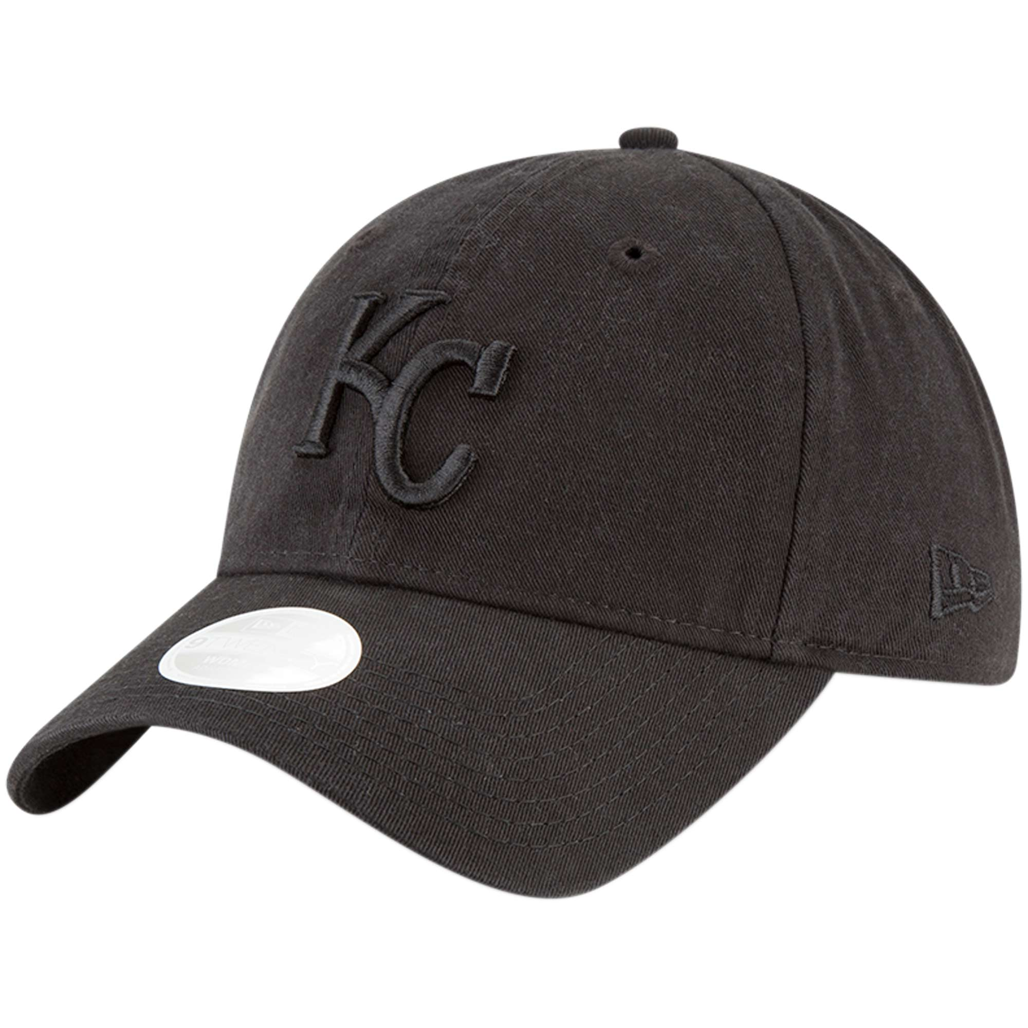 Kansas City Royals New Era Women's 9TWENTY Core Classic Twill Adjustable Hat - Black - OSFA